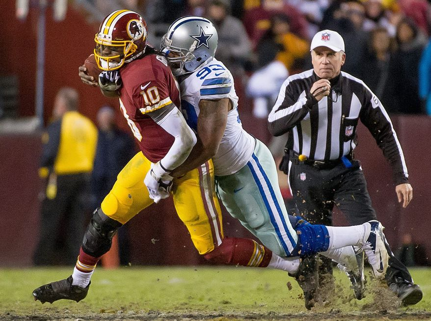 Robert Griffin III finished with 4,015 all-purpose yards and 27 touchdowns this year for the Redskins. (Andrew Harnik/The Washington Times)