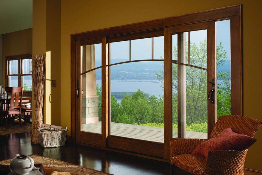 Photo provided by Andersen Windows  A Craftsman-style home typically has special feature windows, such as a picture window.