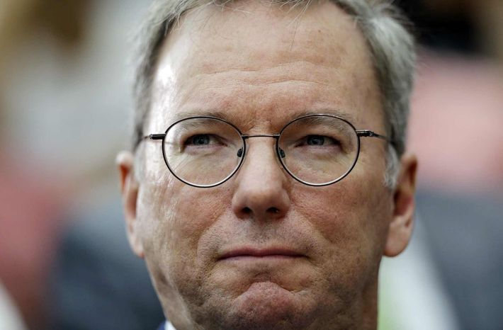 ** FILE ** In this Sept. 28, 2012, file photo, Google executive chairman Eric Schmidt arrives for a seminar at Yonsei University in Seoul, South Korea. Schmidt is preparing to travel to one of the last frontiers of cyberspace: North Korea. (AP Photo/Lee Jin-man, File)