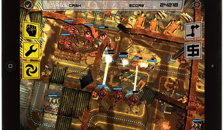 Maneuver an armored convoy through hostile machine towers in the iPad strategy game Anomaly Korea.