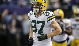 Green Bay Packers wide receiver Jordy Nelson runs on the field during the first half of an NFL football game against the Minnesota Vikings Sunday, Dec. 30, 2012, in Minneapolis. (AP Photo/Charlie Neibergall)