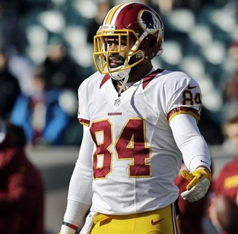 Washington Redskins tight end Niles Paul (84) walks off the field after warm ups before an NFL football game against the Philadelphia Eagles, Sunday, Dec. 23, 2012, in Philadelphia. (AP Photo/Mel Evans)