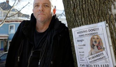 Associated Press Author Dennis Lehane is offering a monetary reward and said he will name a character in his next book after whoever finds his dog Tessa, who has been missing from his Massachusetts home since Christmas Eve.