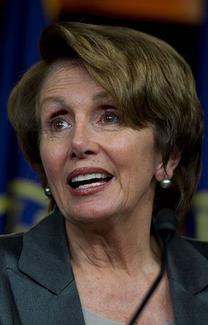 House Minority Leader Nancy Pelosi says nothing is off the table when it comes to options to increase revenue, except a tax increase on the middle-class. (The Washington Times)