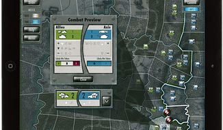 Move units into occupied territories and attack in the iPad strategy game Battle of the Bulge.