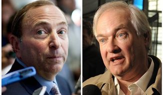 Gary Bettman (left) and Donald Fehr (Associated Press)