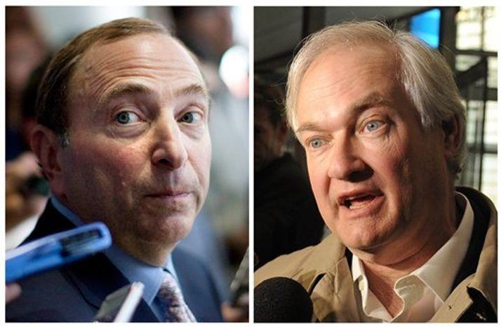 Gary Bettman (left) and Donald Fehr (Associated Press)