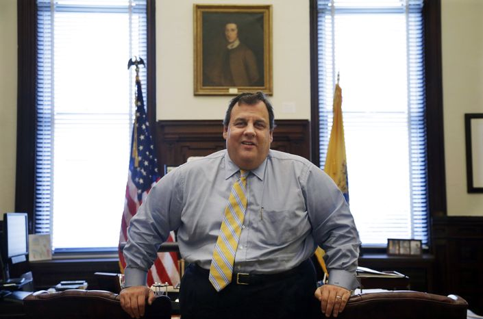 New Jersey Gov. Chris Christie, pictured in his office at the Statehouse in Trenton, N.J., on Friday, Jan. 4, 2013,  has earned nearly universal praise for his handling of Superstorm Sandy, the state's worst natural disaster. (AP Photo/Mel Evans)
