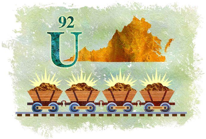 Illustration Virginia's Uranium by Greg Groesch for The Washington Times