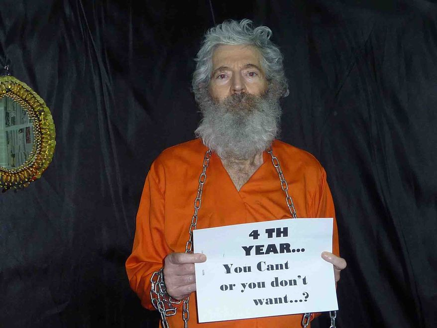 This undated handout photo provided by the family of Robert Levinson, shows retired-FBI agent Robert Levinson. Levinson, 64, went missing on the Iranian island of Kish in March 2007. Levinson's family received these photographs of him in April 2011. U.S officials suspect the Iranians or its proxies are holding Levinson hostage. (AP Photo/Levinson Family)