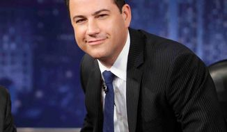 Jimmy Kimmel says he won't be changing his style for the move to ABC, pushing aside conventional wisdom that edgier late-night humor won't play in Peoria or elsewhere before the clock strikes 12. His new talk show debuts Tuesday night with guests Jennifer Aniston and No Doubt. (Associated Press)