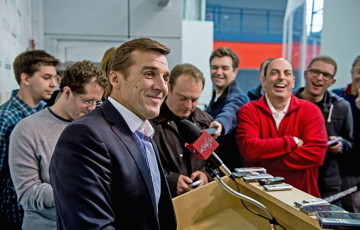 Capitals general manager George McPhee (Andrew Harnik/The Washington Times)