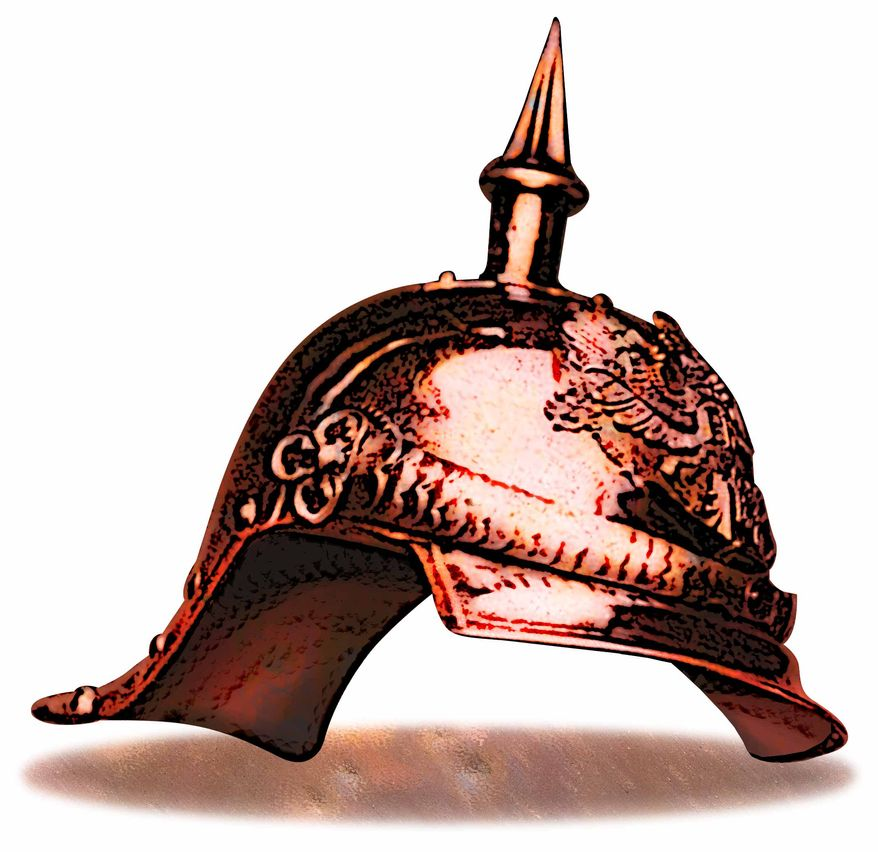 Illustration Bismark Helmet by Greg Groesch for The Washington Times
