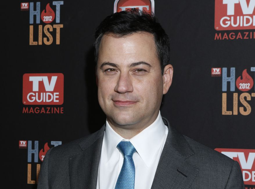 Late-night host Jimmy Kimmel attends TV Guide's 2012 Hot List party at Skybar at the Mondrian Hotel in West Hollywood, Calif., on Mon., Nov. 12, 2012. (Todd Williamson/Invision/AP)