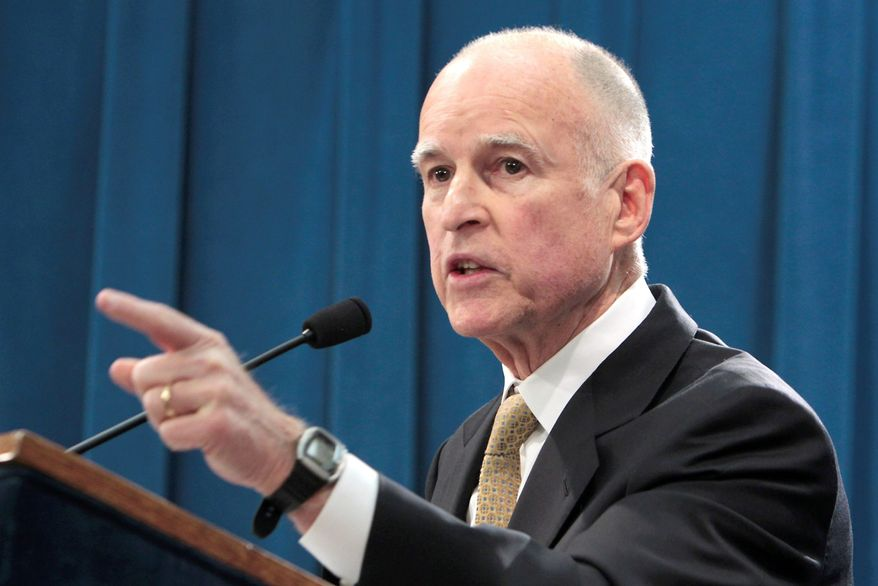 ** FILE ** California Gov. Jerry Brown. (Associated Press)