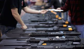 Virginia requires licensed firearm dealers to check the backgrounds of all buyers, but the law does not apply to purchases from private sellers at gun shows. A Republican-dominated legislature has rebuffed efforts to close the loophole. (Associated Press)