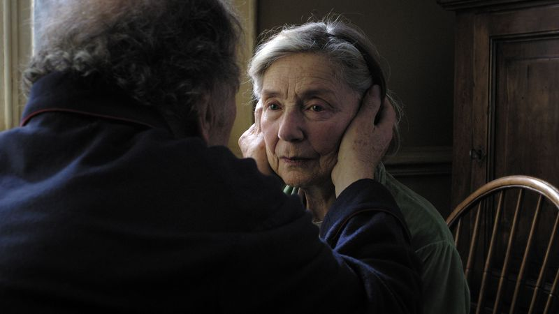 """This image released by Sony Pictures Classics shows Emmanuelle Riva in a scene from """"Amour."""" (Associated Press/Sony Pictures Classics)"""