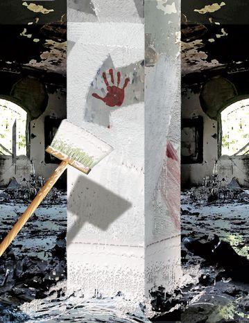 Illustration Benghazi by Alexander Hunter for The Washington Times