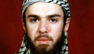 American-born Taliban fighter John Walker Lindh appears in this undated file photo obtained from a religious school where he studied for five months in Bannu, near Islamabad, Pakistan. (AP Photo) ** FILE **