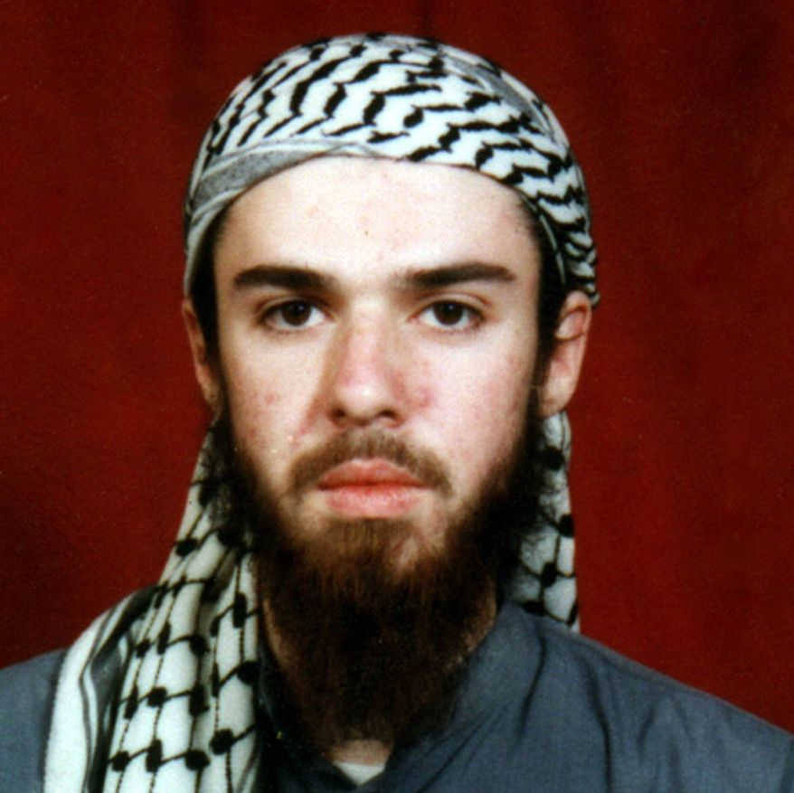 ** FILE ** This undated file photo obtained from a religious school where he studied for five months in Bannu, near Islamabad, Pakistan, shows American-born Taliban fighter John Walker Lindh. (AP Photo/File)