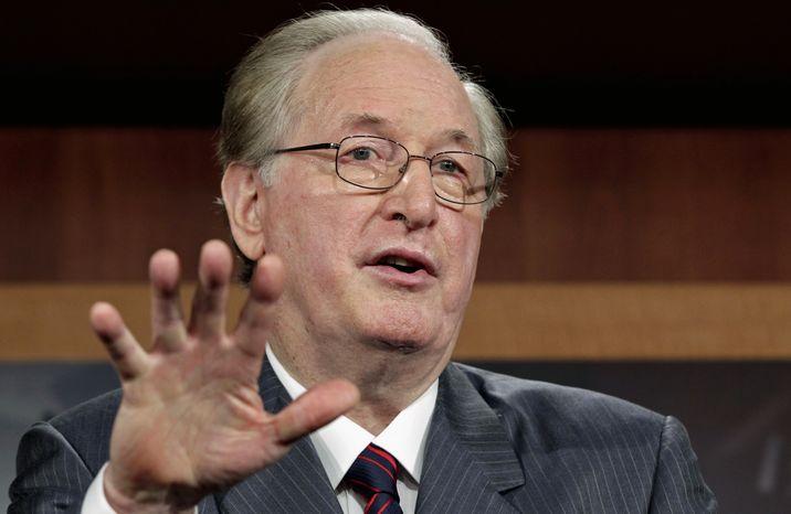 **FILE** Sen. Jay Rockefeller, West Virginia Democrat, speaks Aug. 3, 2011, on Capitol Hill in Washington. (Associated Press)