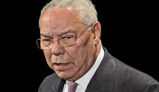 Former Secretary of State Colin Powell (AP Photo/Eric Reichbaum) ** FILE **