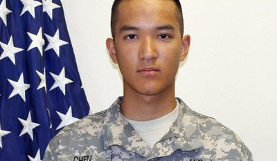 Army Pvt. Danny Chen, 19, allegedly was hazed by eight fellow soldiers to the point that he committed suicide in October 2011. (U.S. Army via Associated Press)
