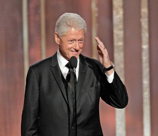 Former President Bill Clinton is everywhere these days, Sunday night's Golden Globe Awards. (Associated Press)
