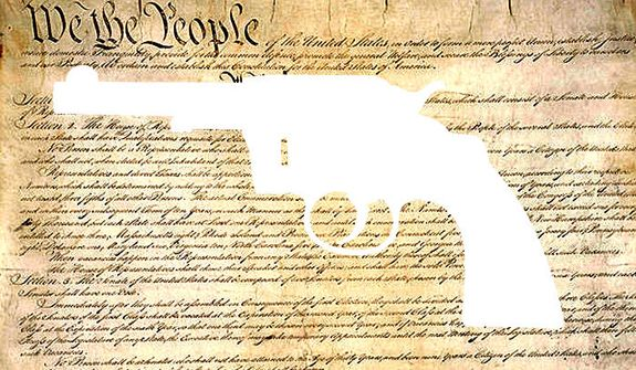 Illustration Second Amendment by Alexander Hunter for The Washington Times
