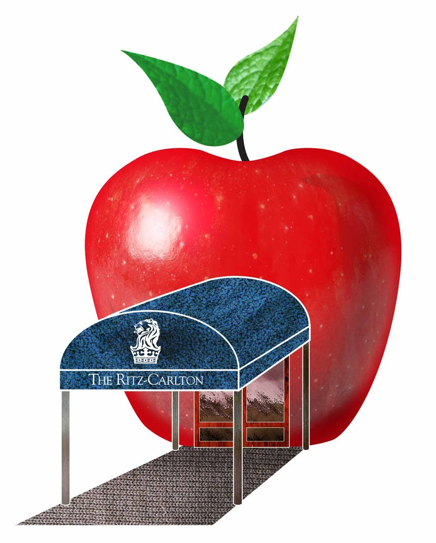 Illustration Charter Schools and Businesses by Greg Groesch for The Washington Times