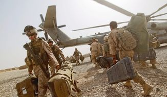 All U.S. troops are scheduled to leave Afghanistan in 2014. Whether any will remain to train local forces and conduct missions against al Qaeda remains a point of contention between the two countries' governments. (Associated Press)