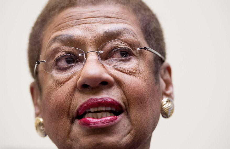 """Kudos to the President for agreeing to a small but larger than life sign of his commitment to the District and its residents,"" said Eleanor Holmes Norton, the District's non-voting member of Congress. (Andrew Harnik/The Washington Times)"
