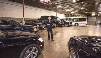 Richard Kane, president and CEO of International Limousine Service Inc., said he expects to rent 30 to 40 more vehicles for Inauguration Day activities next week, down from an additional 70 for the first swearing-in of President Obama in 2009. (Andrew S. Geraci/The Washington Times)