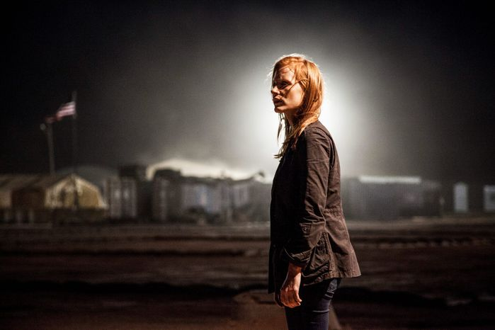 """Jessica Chastain earned an Oscar nomination for best actress for her portrayal of a young, obsessed CIA operative driving the search for Osama bin Laden in Columbia Pictures' new thriller """"Zero Dark Thirty."""" (Columbia Pictures)"""