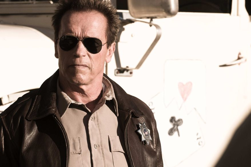"""** FILE ** This publicity film image released by Lionsgate shows Arnold Schwarzenegger in a scene from, """"The Last Stand."""" (AP Photo/Lionsgate, Merrick Morton, File)"""