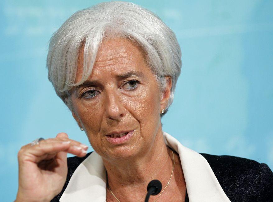 International Monetary Fund Managing Director Christine Lagarde (Associated Press)