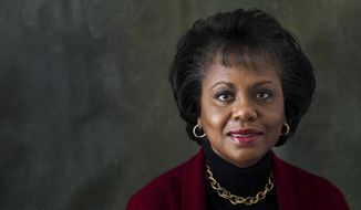 "Anita Hill poses for a portrait during the Sundance Film Festival on Friday, Jan. 18, 2013, in Park City, Utah. Hill made national headlines in 1991 when she testified that then-Supreme Court nominee Clarence Thomas had sexually harassed her. Now, more than 20 years later, director Freida Mock explores Hill's landmark testimony and the resulting social and political changes in the documentary ""Anita,"" premiering Saturday at the Sundance Film Festival. (Photo by Victorial Will/Invision/AP)"