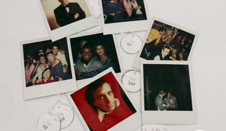Various polaroids shot by Andy Warhol at Studio 54 are displayed in West Palm Beach, Fla., on Jan. 16, 2013. Memorabilia from the famed 1970s club is hitting the auction block in Florida. The private collection of co-founder Steve Rubell is being sold Jan. 19 in West Palm Beach. (Associated Press)