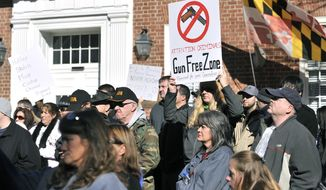 Gun control legislation that drew crowds of protesters to the Maryland State House in Annapolis in 2013 would be expanded under a package of bills introduced Wednesday in the General Assembly. (Associated Press/File)