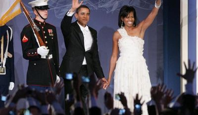 President Obama and First Lady Michelle, dance during the Youth Inaugural Ball at the Washington Hilton in Washington, D.C.(Katie Falkenberg / The Washington Times)