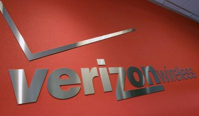 ** FILE ** In this Tuesday, June 12, 2012, file photo, the Verizon logo is seen at Verizon store in Mountain View, Calif. (AP Photo/Paul Sakuma, File)