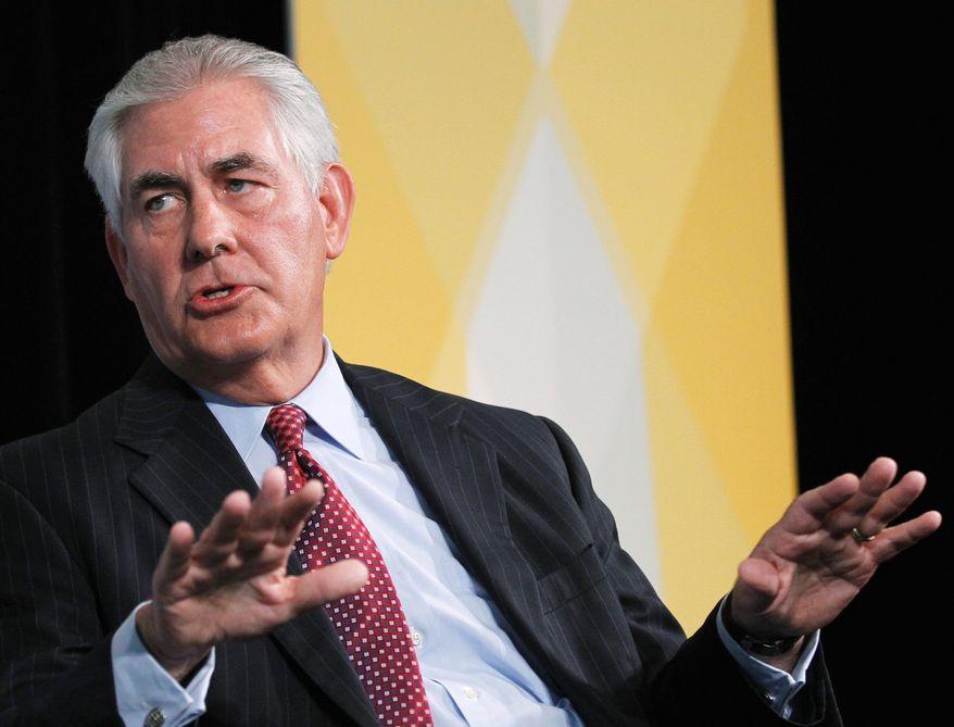 ExxonMobil Chairman and CEO Rex Tillerson (Associated Press)