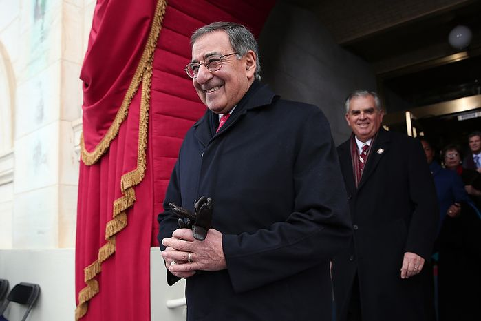 U.S. Defense Secretary Leon Panetta arrives at the presidential inauguration on the West Front of the U.S. Capitol January 21, 2013 in Washington, DC.   Barack Obama was re-elected for a second term as President of the United States.  (Photo by POOL Win McNamee/Getty Images)