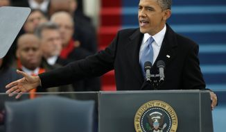 President Obama mentioned climate change eight times during his inaugural address, and the White House has hinted that he may use executive power to pursue a form of clean-energy investments. (Associated Press)