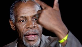"""""""The Second Amendment comes from the right to protect — for settlers to protect themselves from slave revolts, and from uprisings by Native Americans,"""" actor Danny Glover told students at Texas A&M University. Captured on video, his bold reinterpretation of the Second Amendment quickly went viral. (Associated Press)"""