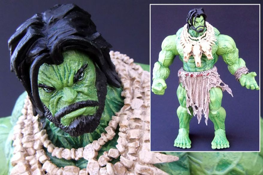 Diamond Select Toys' Marvel Select: Barbarian Hulk (Photograph by Joseph Szadkowski / The Washington Times)