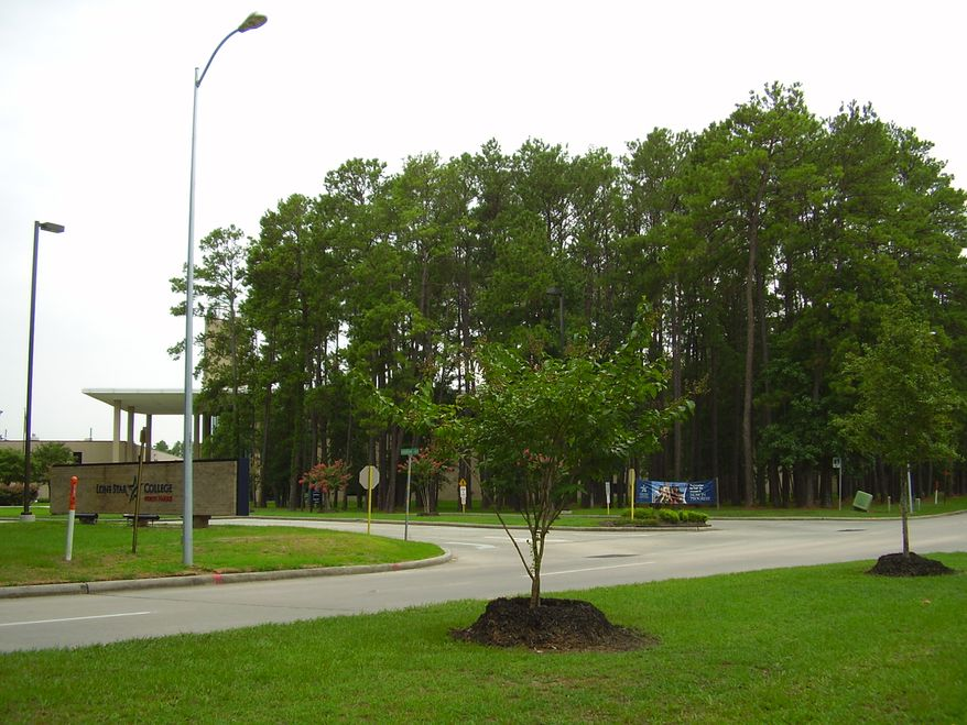 ** FILE ** Lone Star Community College campus in North Harris County, Texas.