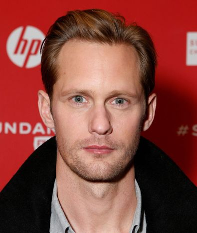 "Alexander Skarsgard (seen here) and Guy Pearce agree film violence has an effect, but Mr. Skarsgard adds, ""We do have insane people in Sweden and in Canada. But we don't have 30,000 gun deaths a year."" (Associated Press)"