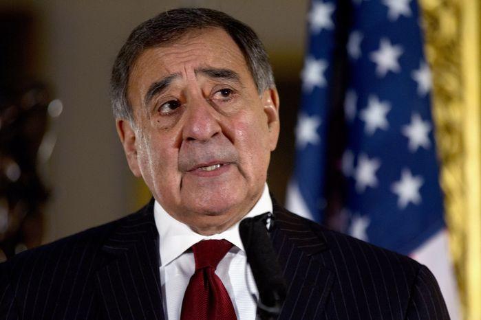 **FILE** Defense Secretary Leon E. Panetta speaks Jan. 19, 2013, during a news conference in London. (Associated Press)