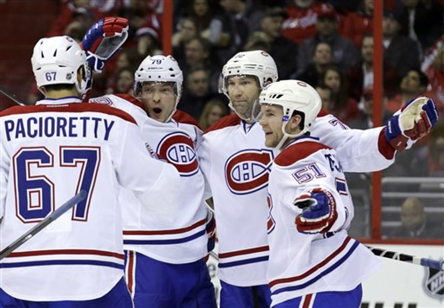 The Canadiens beat the Capitals 4-1 on Thursday night at Verizon Center. (Associated Press)